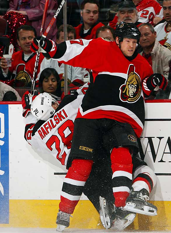 Dean McAmmond and the Senators held off Brian Rafalski and the Devils to move within one win of reaching the Eastern Conference finals for the second time. The win gave the Sens a 3-1 series lead.