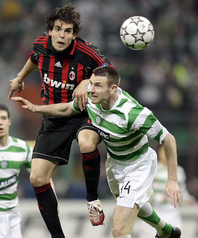 Milan nearly became a footnote to history in the round of 16, as surprising Celtic looked as if it would be the first Scottish club ever to reach the quarterfinals. But once again, it was Kaká to the rescue, breaking the deadlock in the 93rd minute of the second leg to put Milan through 1-0 on aggregate.