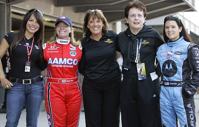 For the first time in the 91-year history of the Indianapolis 500, three women will be in the same field: Milka Duno (far left), Sarah Fisher (second from left) and Danica Patrick (far right). Duno, a rookie driver from Venezuela, joins Fisher and Patrick, both veterans at Indy, on the 33-car grid. Here, we offer a photo essay of their careers, on and off the track, along with a few shots of the original women of Indy, Janet Guthrie and Lyn St. James. (The trio joined St. James, center, and tennis great Billie Jean King for a photo before the start of qualifications on May 12.)