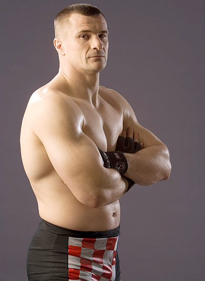 A former K1 kickboxing star, Cro Cop joined UFC earlier this year. His spectacular leg kicks made him a superstar in the Japanese Pride Fighting Championships, and a hero in his home country of Croatia. He serves in the Croatian parliament and his fights do enormous television ratings in that country.