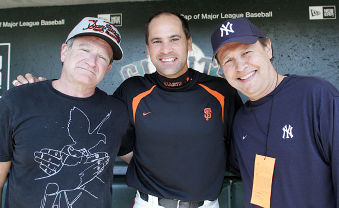 It's not a good sign for Omar Vizquel (center) that he pretty much looks as old as Robin Williams and Billy Crystal.