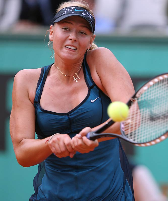 No. 2 seed Maria Sharapova barely survived a fourth-round challenge from Patty Schnyder, taking the deciding set 9-7 on Sunday.