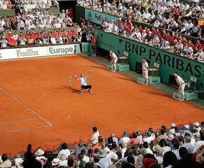 In winning his third straight French Open, Nadal became just the second man to do so since 1914 and the first since Bjorn Borg won four in a row from 1978-81.