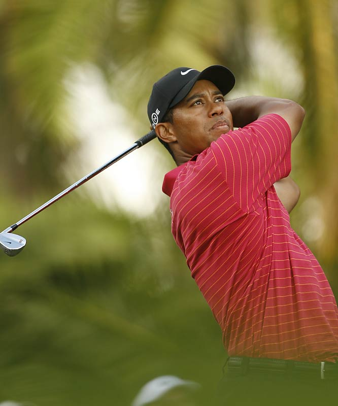 His power game is undoubtedly impressive, but Woods' laser focus and attention to detail have propelled him to 12 major championship wins.