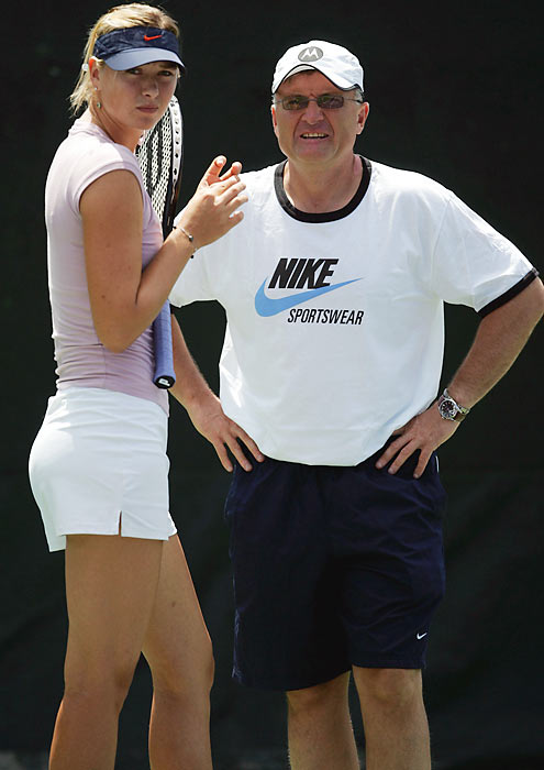 Yuri Sharapova coaches his 20-year-old daughter, who has won both the U.S. Open and Wimbledon.