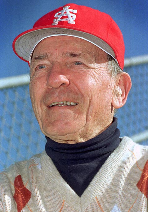 The day after a 10-8 win over the Twins in his first game as manager of the Texas Rangers, the former major league second baseman and player-manager for the St. Louis Cardinals resigned, citing homesickness. He returned to Mobile and resumed coaching at South Alabama.<br><br>Send comments to siwriters@simail.com