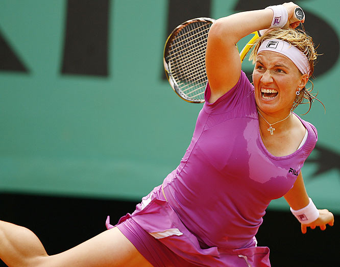 Svetlana Kuznetsova, the 2006 French Open runner-up, will not be making a return trip to the finals after falling to Ana Ivanovic in the quarterfinals, 0-6, 6-3, 1-6.