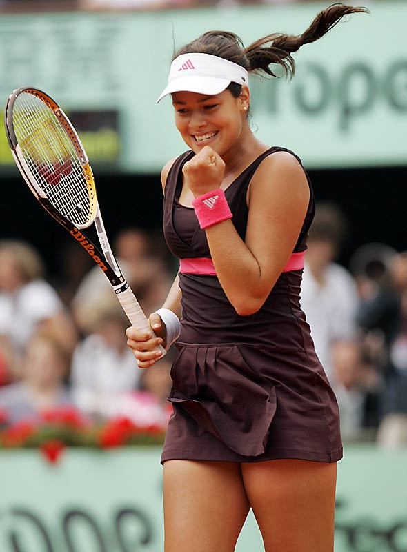 "No. 7 Ana Ivanovic took advantage of Sharapova's sloppy play and discomfort on clay, but was still surprised by her easy victory, saying, ""I was thinking the game would be much closer."""