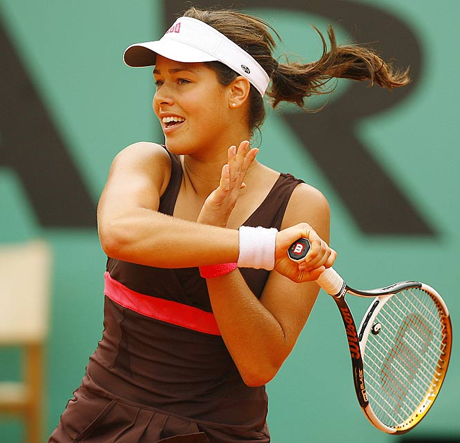 Ana Ivanovic beat two-time Grand Slam champion Maria Sharapova 6-2, 6-1 to advance to her first Grand Slam final.