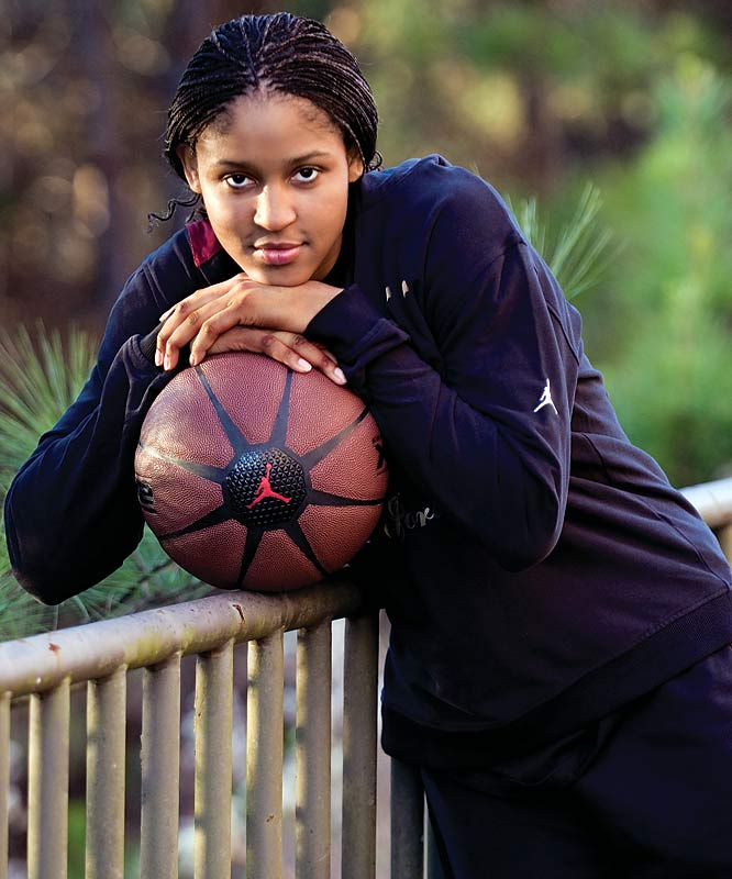 Moore is the consensus No. 1 player in the Class of 2007 and with good reason. This year, the UConn-bound forward was named Gatorade National Player of the Year and a McDonald's All-American after averaging 27 points, 12 rebounds, five assists, five steals and two blocks per game to lead Collins Hill to its third consecutive state title.