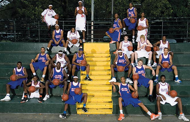 Participants in the inaugural Boost Mobile Elite 24 Hoops Classic powered by RISE, including Kevin Love ('07), Brandon Jennings ('08) and Lance Stephenson ('09), gathered at Harlem's famed Rucker Park. The event, held for the first time in September of 2006, brought together the nation's top ballers regardless of grade or sneaker affiliation.