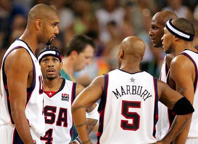 Apart from the fact that they often have to be cajoled into participating by the NBA and their own sponsors, U.S. players arrive ill-prepared for the international game, looking for one-on-one opportunities to show off their skills and unwilling to adapt to the strategies of international play. Remember, Argentina beat them at the last Olympics.
