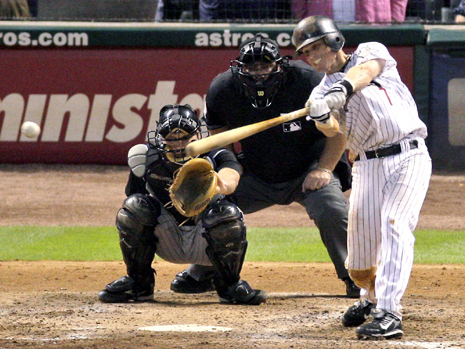 Craig Biggio became the 27th member of the 3,000-hit club on June 28, 2007, with an RBI single off Colorado's Aaron Cook at Minute Maid Park.