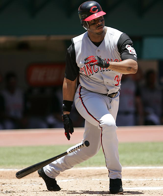 Long seen as a lock to overtake Hank Aaron's all-time home run mark, Griffey was slowed by injuries and his march reduced to a crawl. The Kid hit only 43 home runs in three seasons -- 2001, '02 and '03 -- before finally reaching the 500 mark on June 20, 2004, in a 6-0 win at St. Louis.