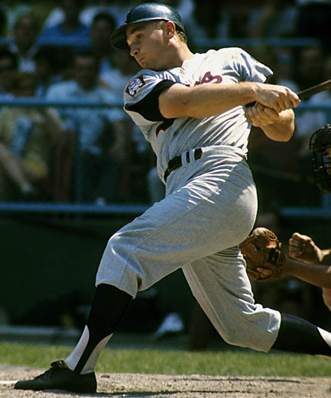 Killebrew hit 40 or more homers eight times and led the AL in homers six times. Killer became the 10th member of the club on Aug. 10, 1971, in Minnesota with a solo homer off Baltimore's Mike Cuellar.