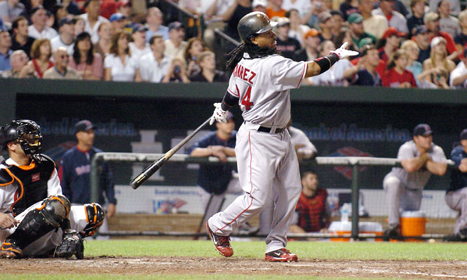 Manny Ramirez connected for career homer No. 500 on May 31, 2008, hitting a drive off Orioles righty Chad Bradford to become the 24th major leaguer to reach the milestone.