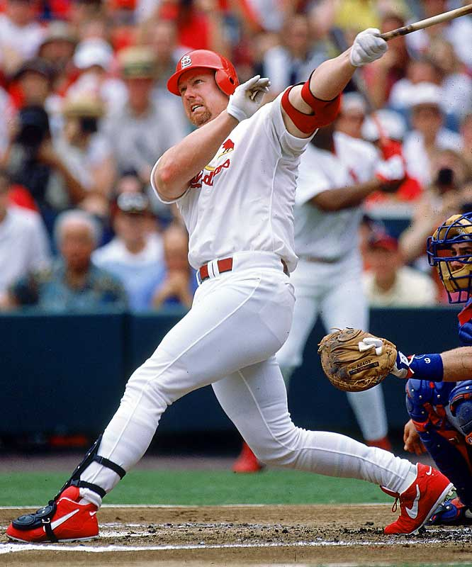McGwire topped 50 homers in four consecutive seasons (1996-99) and reached 500 the quickest in terms of games (1,639) and at-bats (5,487). Big Mac became the 16th member of the club on Aug. 5, 1999, in St. Louis with a solo homer off San Diego's Andy Ashby.