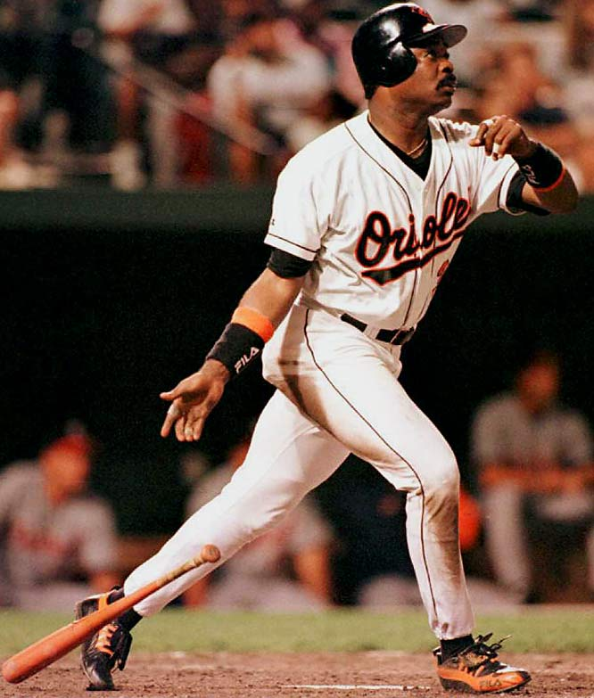 Eddie Murray, who never hit more than 33 homers in a season, is one of four players with 500 homers and 3,000 hits. Murray became the 15th member of the 500 club on Sept. 6, 1996, in Baltimore with a solo homer off Detroit's Felipe Lira.