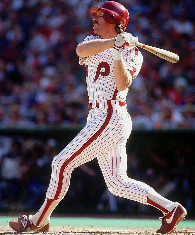 A three-time MVP, Schmidt led the NL in home runs eight times. He became the 14th member of the club on April 18, 1987, in Pittsburgh with a three-run homer off Don Robinson.