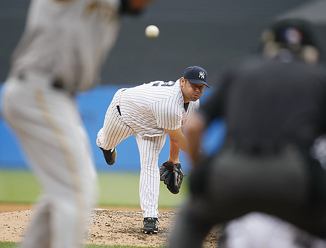 Roger Clemens shook off some early struggles and gave the surging Yankees the lift they were looking for, leading them to a 9-3 victory over the Pirates in his long-awaited season debut on Saturday.  The 44-year-old Rocket allowed three runs, five hits and two walks as he struck out seven in six solid innings for New York.
