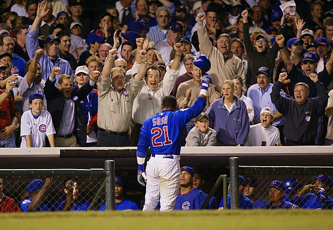 The closest Sosa came to playing in a World Series was in 2003, when the Cubs blew a 3-1 lead to the Marlins and lost in seven games.