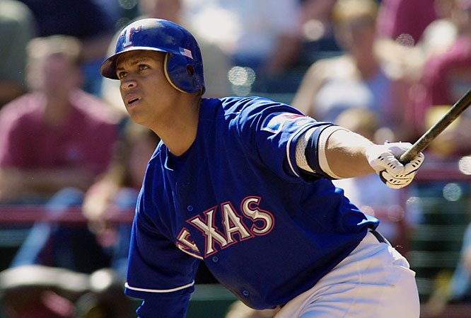 Record: 73-89, .451 <br>Finish: 4th place, 43 GB<br><br>Unhappy with a last-place finish in 2000, the Rangers signed Alex Rodriguez to a still-record $252 million deal ... and still finished in last place. They threw good money after bad the following winter, landing Chan Ho Park to a $65 million contract. Texas finished in last place all three seasons it had A-Rod on its roster.