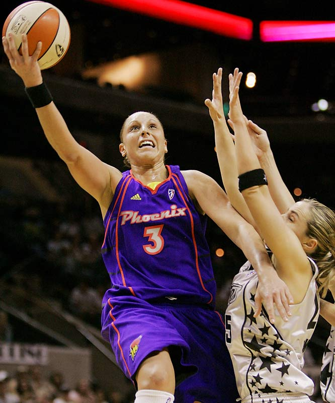 Thanks, Paul Westwood. Your frenetic, up-tempo style means more attempts from the floor for the game's most exciting talent. No player in the WNBA combines Taurasi's shooting prowess (she averaged a league-high 25.3 points last season) and court awareness: Think Magic Johnson after his outside jumper became money. Because she's always smiling and perpetually upbeat, you get the feeling she'd play for free.