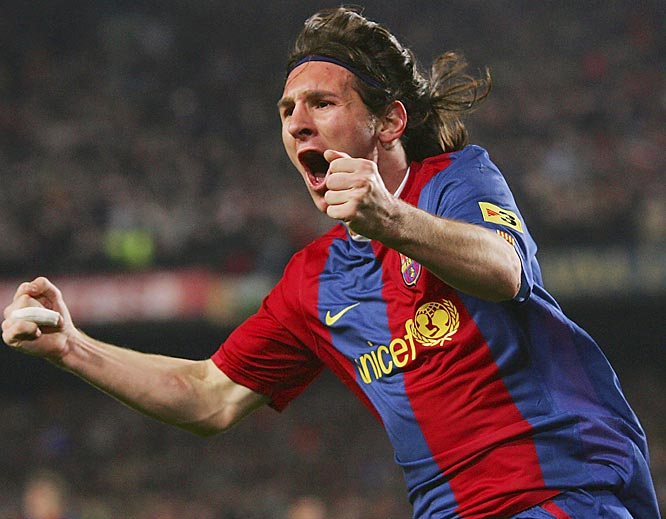 """Oh, to be 19 and blessed with long, floppy hair and skills that give defenders nightmares. The FC Barcelona striker (or is he a midfielder? Hard to say.) -- electrifies every moment like only a teenager can (he turns 20 this month). His hat-trick in a 3-3 draw with archrival Real Madrid in March will go down as one of football's greatest-ever performances. He might actually fulfill the prophecy of being Argentina's """"next Maradona."""""""