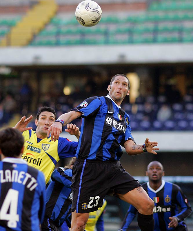 "History will record Materazzi simply as the victim of the most famous head butt ever, but in the 2006-07 season, the hard-nosed Italian defender was the leader as Inter Milan took its first league title in nearly two decades. In Italy, he's considered to have a ""complicated"" mind, which basically means, in any given match, he's liable to either scythe an opponent down or score a brilliant goal. The plate-sized homage to Italy's 2006 World Cup victory tattooed on his thigh says it all: He wears his heart on his sleeve and gives it up every minute, every game."