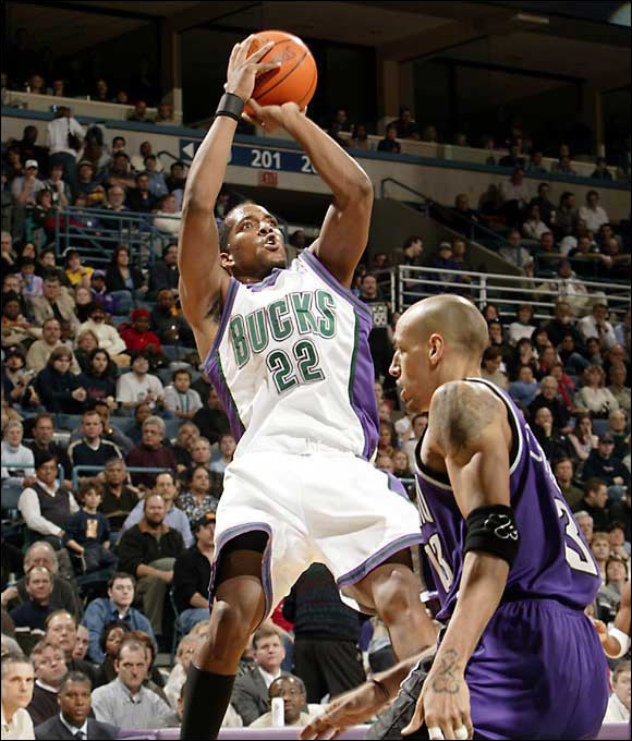Hard to believe that this lanky, left-handed shooter with a Big Ten pedigree could last until the 43rd pick in one of the worst drafts in recent memory. Known for having one of the game's quickest releases, Redd improved his scoring average in each of his first seven seasons, peaking at 26.7 points a game in 2006-07. A string of knee injuries has derailed him in recent seasons.