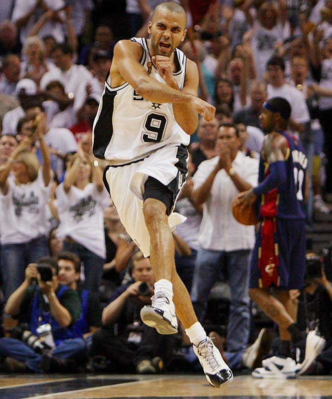 Tony Parker shook off an early injury to score a game-high 27 points and seven assists.