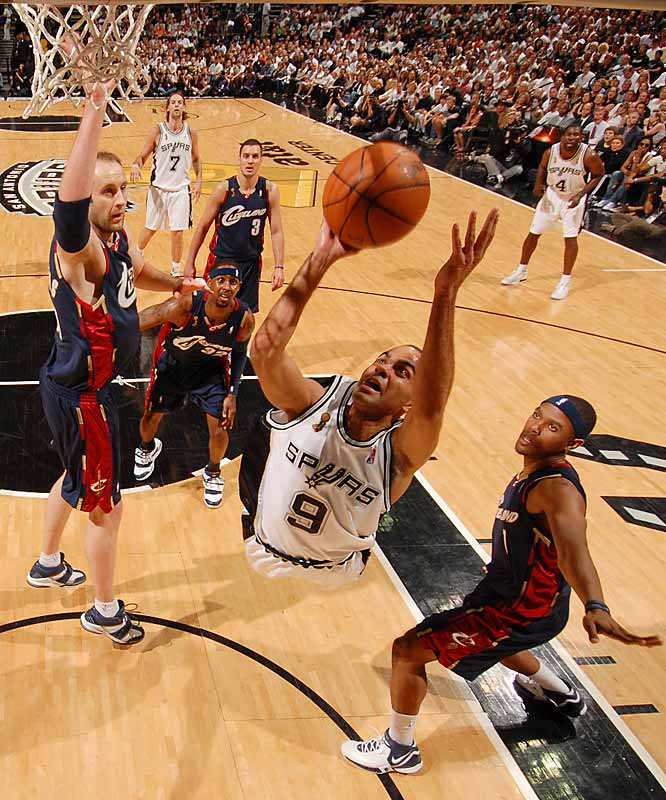 Tony Parker continued to burn the Cavs with his relentless drives into the paint.