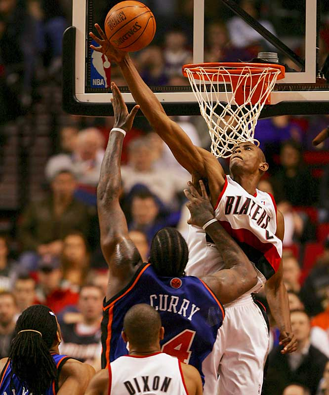Potential suitors: Trail Blazers, Bucks, Bobcats, Spurs <br> <br>In four seasons in Portland since the Blazers selected him out of high school in 2003, Outlaw has averaged 6.8 points and 2.6 rebounds in 17.2 minutes. Stretch out his production over a full 48 minutes and a player who produced 20.1 points and 7.2 boards emerges. Only 22, he has the type of ''athletic gifts,'' said a scout, that could make him a 10-year starter. But he also has the inconsistency that demands he be a supporting cast member for the immediate future.