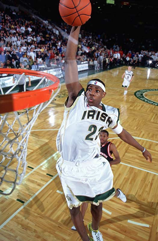 Sports Illustrated 's photographers have been following 2012 Sportsman of the Year LeBron James since his high school days in Akron, Ohio. Here are some of their best action shots.