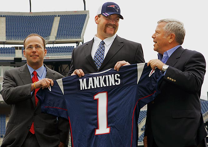 "The defending Super Bowl champions took the Fresno State guard with the last pick of the first round in 2005. The general reaction was ""Logan who?"" Mankins was on no one's radar as a possible first-rounder."