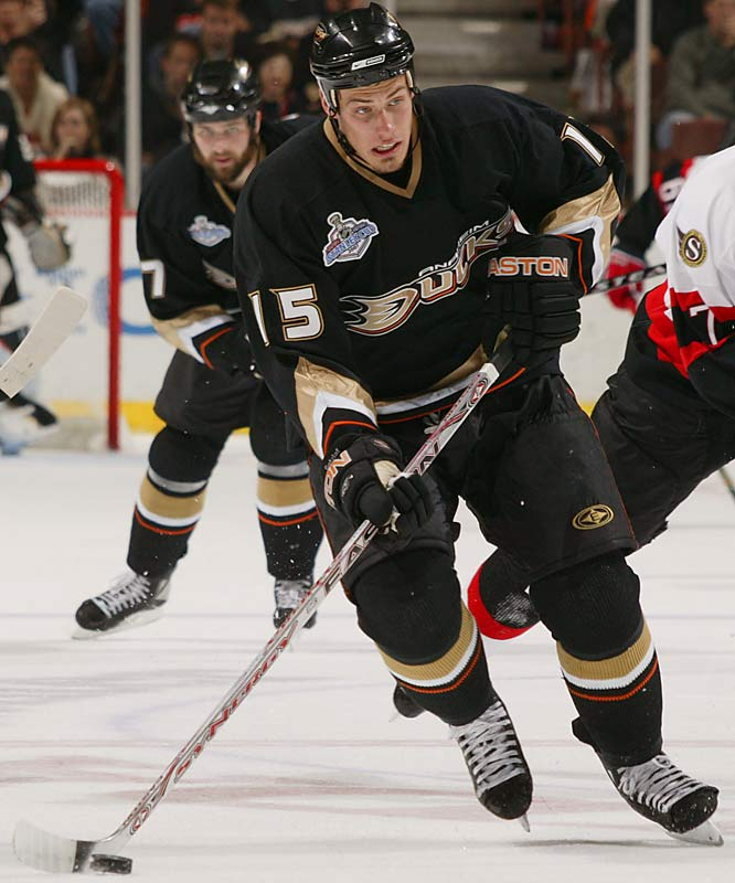 Anaheim's first-round pick (19th overall) in 2003, the sizeable (6-3, 213) 22-year old emerged as one of the NHL's top young players by scoring 25 goals during the 2006-07 regular season and  leading the Ducks in scoring (7 goals, 17 points in 21 games) during the playoffs.