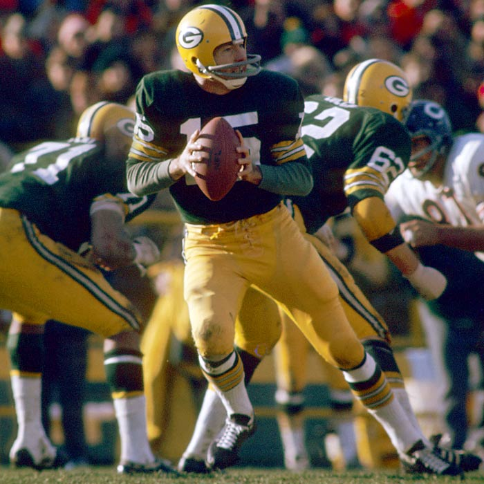 The great conductor of the Packers offense, Starr won NFL Championships in 1961, 1962, 1965, 1966 and 1967, and was named MVP of the first two Super Bowls. <br><br>Runner-up: Thurman Munson. <br><br>Worthy of consideration: Carmelo Anthony, Hal Greer, Earl Monroe.