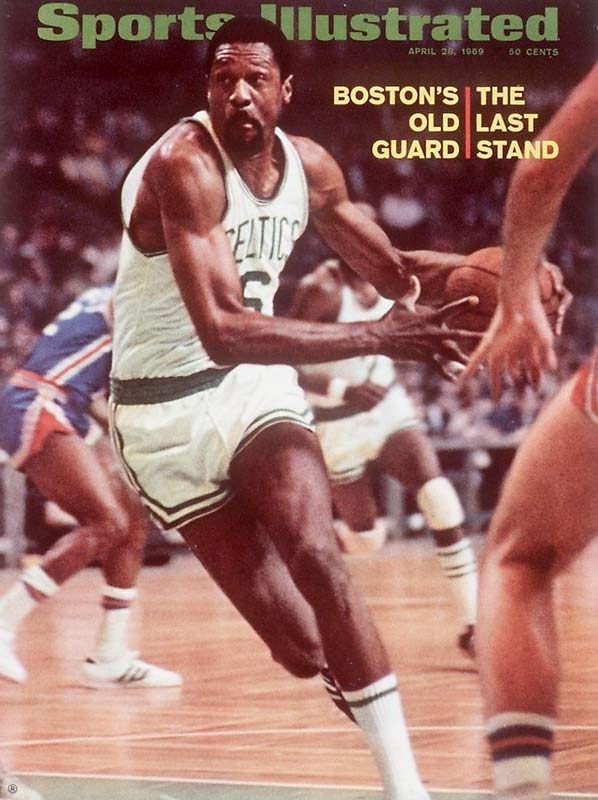 An extraordinary defender and the centerpiece of the Celtics dynasty, Russell played on 11 NBA championship teams in 13 years. <br><br>Runner-up: Stan Musial.<br><br>Worthy of consideration: Julius Erving (Sixers), Al Kaline, Joe Torre.