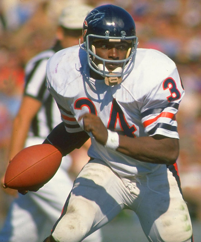 Sweet in disposition and talent. Payton retired as the NFL's alltime leading rusher (16,726) and is considered by many to be the NFL's greatest running back. <br><br>Runner-up: Bo Jackson.<br><br>Worthy of consideration: Earl Campbell, Rollie Fingers, Hakeem Olajuwon, Shaquille O'Neal (Lakers), Kirby Puckett, Nolan Ryan, Herschel Walker (college).