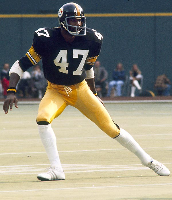 The best cornerback of his era and a four-time champion with the Steelers. He was the NFL's defensive MVP in 1975 and played in five Pro Bowls. <br><br>Runner-up: Tom Glavine. <br><br>Worthy of consideration: Jack Morris.