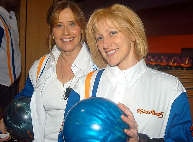 Lorraine Bracco and Edie Falco joined forces for Knicks Bowl 5 to benefit Red Holtzman Knicks Cheering for Children Foundation.