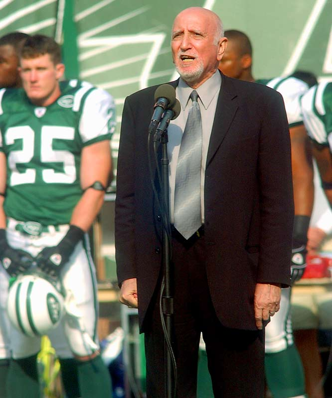 Dominic Chianese, who played Uncle Junior, is a frequent singer of the national anthem around the New York area. He sang prior to the Giants-Jets game in 2003 and before Game 5 of the 2003 Spurs-Nets NBA Finals.