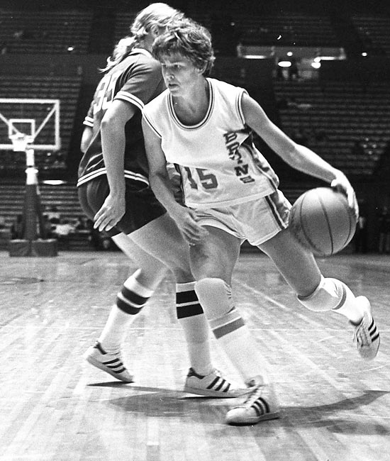 Meyers was the first woman to sign a four-year athletic scholarship -- with UCLA in 1976 -- and she made history again in 1979 when the Indiana Pacers made her the first woman ever to sign an NBA contract. Meyers currently serves as the Phoenix Mercury's general manager.