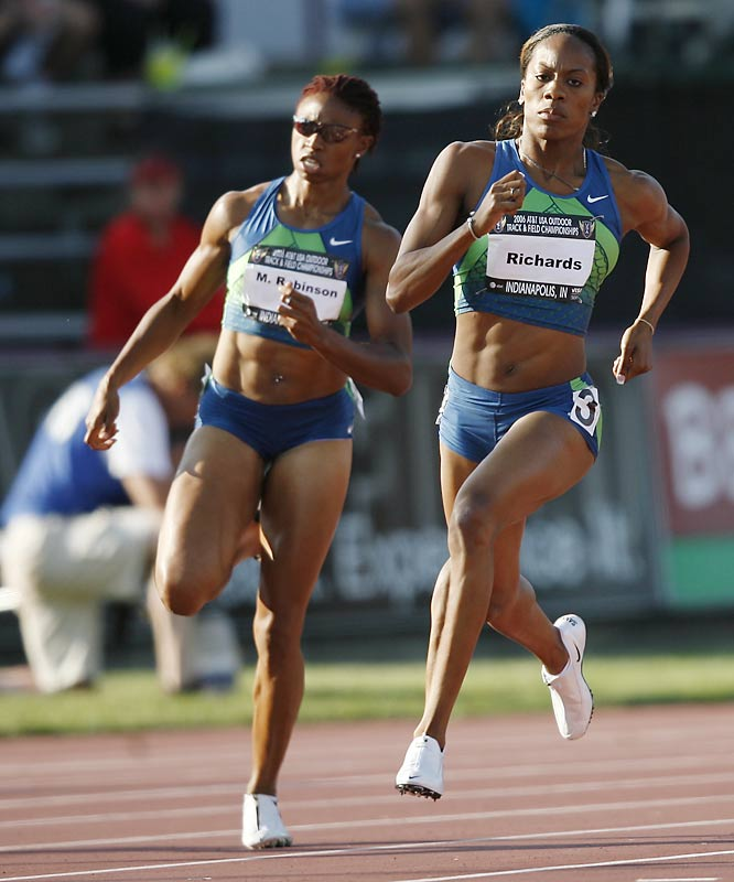 Richards won the 400 at both the Outdoors and Indoors in 2006 and broke the 50-second mark nine times on her way to becoming the No. 1-ranked 400 runner in the world.