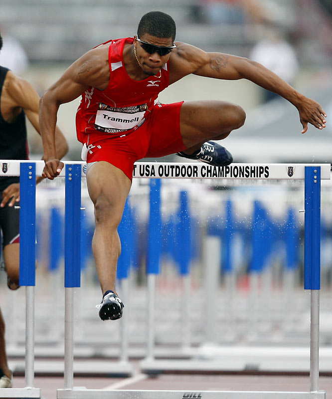 Trammell won the silver medal in the 110 hurdles at both the 2000 and 2004 Olympics and also came in second at the outdoor Nationals in 2006.