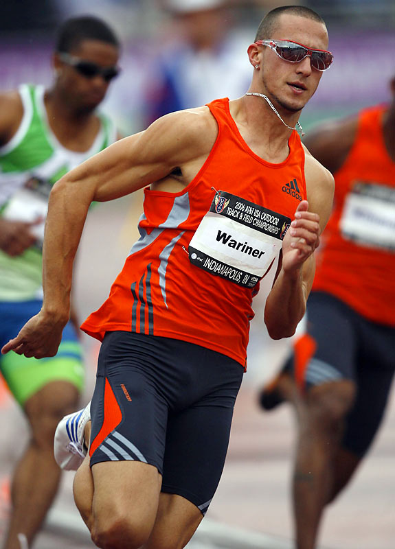 Known for wearing his trademark sunglasses while he races, regardless of the weather or time of day, Wariner won the gold medal in the 400 at the 2004 Olympics.
