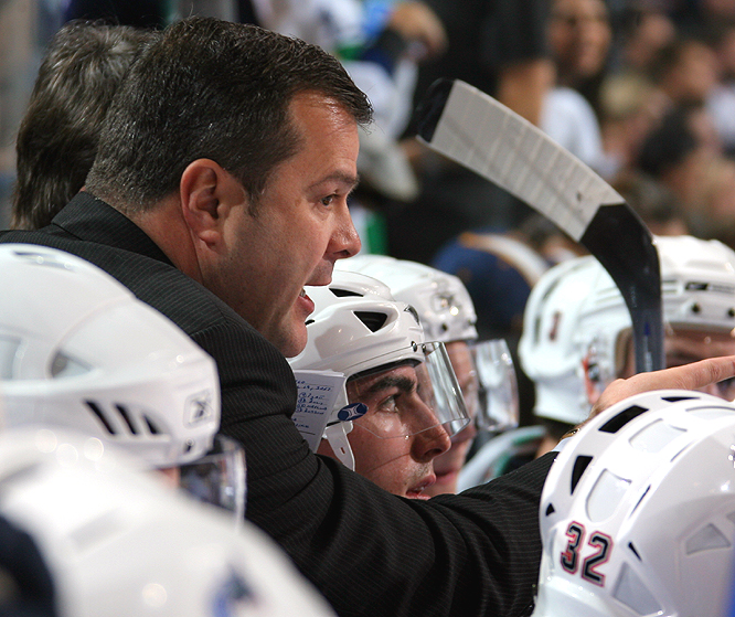 <b>ALAIN VIGNEAULT</b><br><br>The 46-year-old became the second Canucks coach to win the honor, following Pat Quinn in 1992. It's only the fourth major piece of hardware for the Canucks in their history.