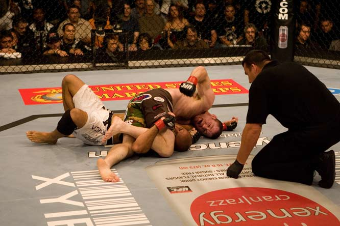 Matt Hughes and BJ Penn first fought in 2004, where Penn shocked many fight experts with a decisive win. In 2006, it was time for their rematch. Again, Penn looked like the better fighter. He blocked Hughes' takedowns, beat Hughes standing, and exhibited a better submission game. However, Hughes persevered and in the third round he tied up Penn in a crucifix and pounded him until the referee stopped the fight.