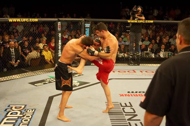 Diego Sanchez was heavily promoted coming out of his successful stint on the Ultimate Fighter. He was given progressively more difficult opponents leading into this showdown with Parisyan. Parisyan gave Sanchez problems, but the unrelenting aggression of Sanchez netted him a decision victory and the respect of many non-believers.