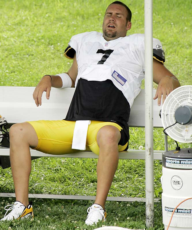 Ben Roethlisberger better not get caught sleeping on the job.